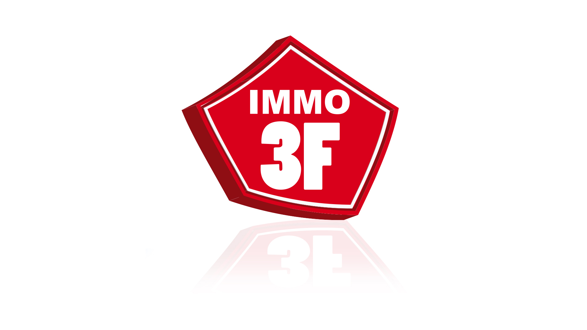 communication Agence immobilière - Immobilier : Refonte du logo Immo3F