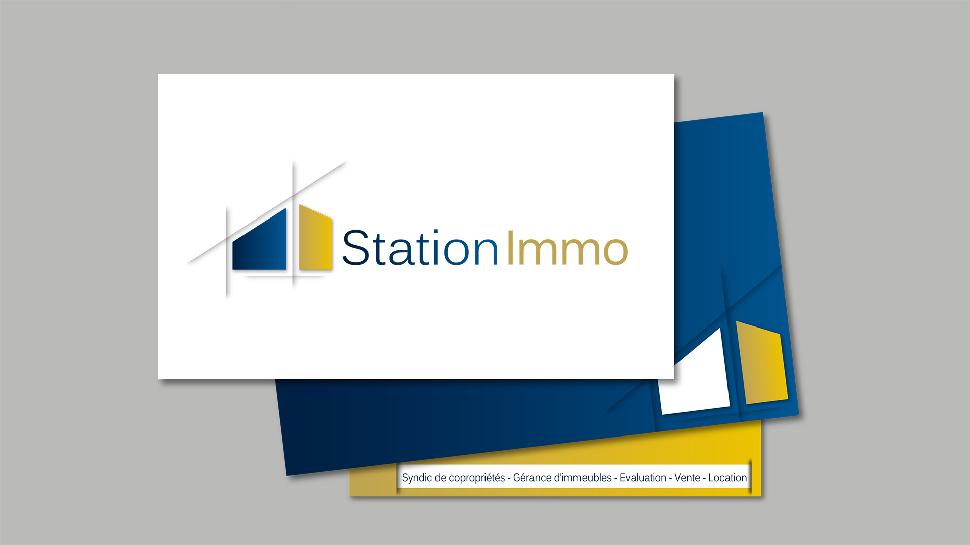 communication Agence immobilière - Immobilier : Refonte logo Station immo - agence immobilière