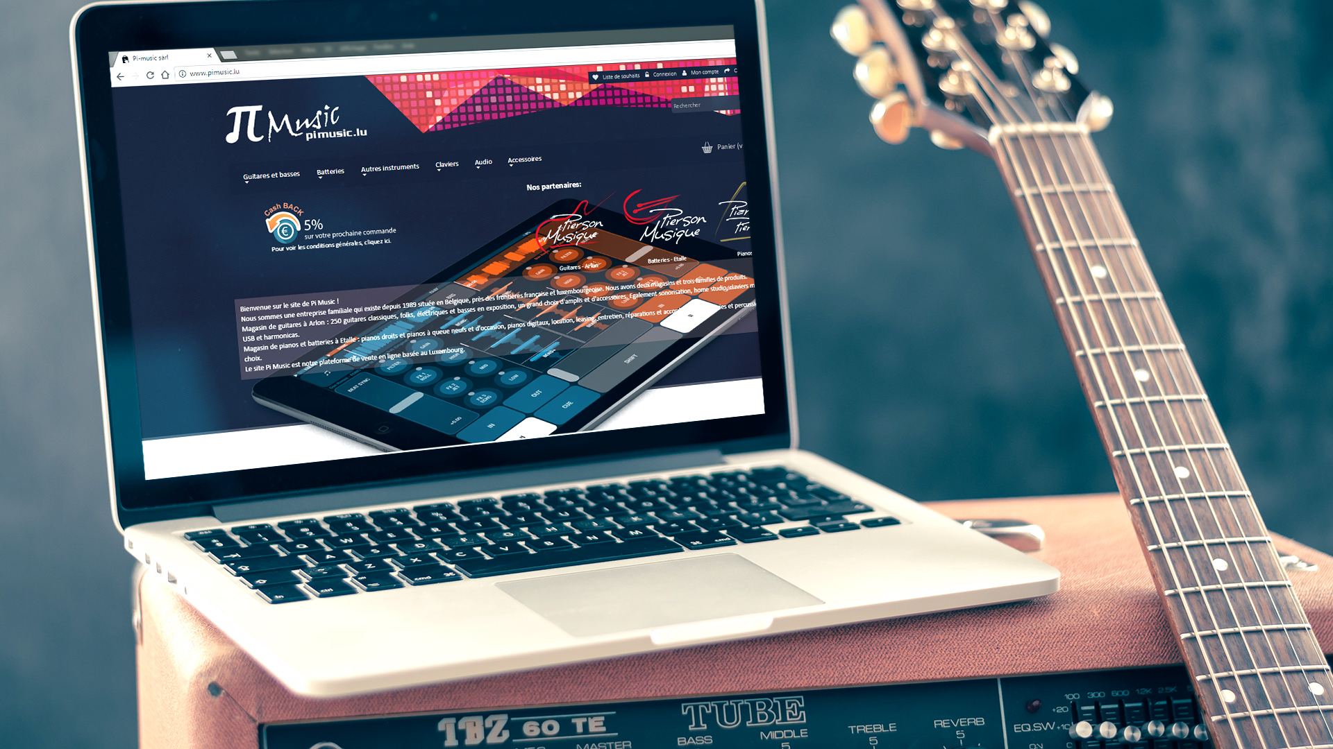 Site Web et E marketing : E-shop Pimusic.lu